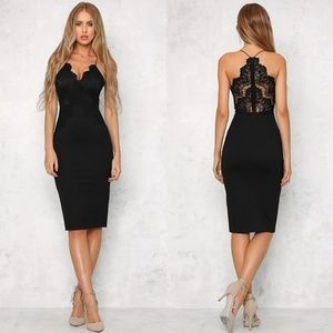 Black Lace Hello Molly Cocktail Dress